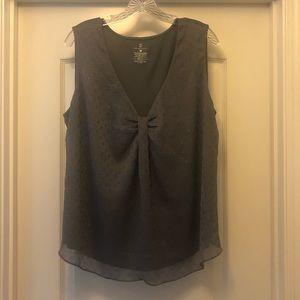 Gray/silver New York & Co. blouse